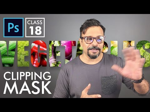 Clipping Mask - Adobe Photoshop for Beginners - Class 18 - Urdu / Hindi