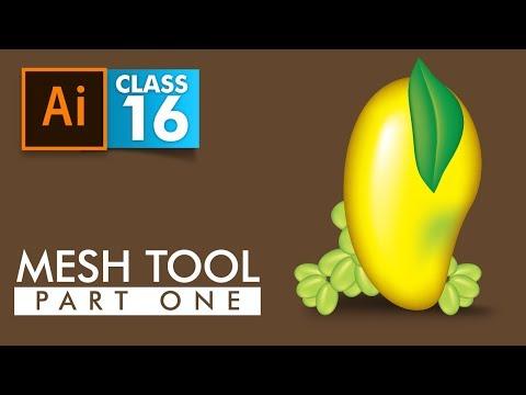 Adobe Illustrator - Mesh Tool Part 1 - Class 16 - Urdu / Hindi