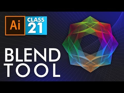 Adobe Illustrator - Blend Tool - Class 21 - Urdu / Hindi