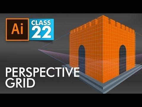 Adobe Illustrator - Perspective Grid - Class 22 - Urdu / Hindi