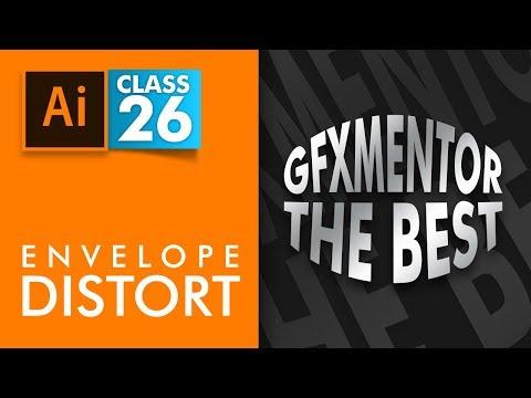 Adobe Illustrator - Envelope Distort - Class 26 - Urdu / Hindi