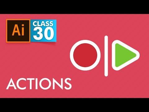 Adobe Illustrator - Actions - Class 30 - Urdu / Hindi