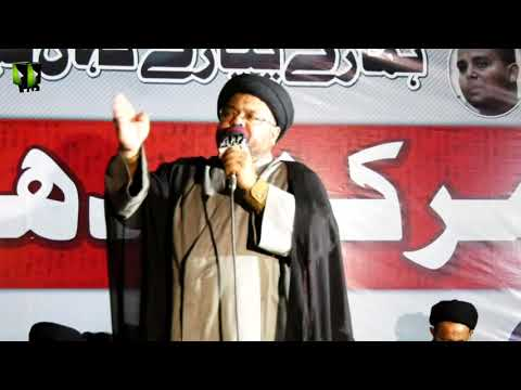 [Speech] جبری لاپتہ شیعہ افراد کی عدم بازیابی کے خلاف دھرنا | Moulana Nazir Taqvi | Urdu