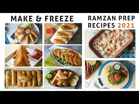 [Quick Recipe] Make & Freeze Ramazan Prep Recipes - English Urdu