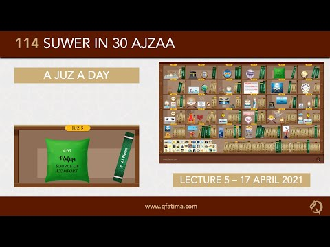 [Introduction To Quran City Of Q Fatima] Juzz 5 Of Holy Quran | English