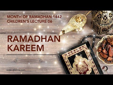 Month Of Ramadhan 1442 Children\\\\\\\'S Lecture PVI| Quran Recitation & Short Duas | English