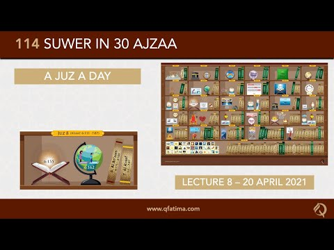 [Introduction To Quran City Of Q Fatima] Juzz 8 Of Holy Quran | English