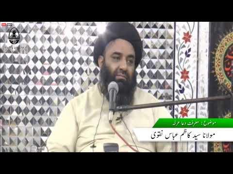 MOLANA SYED KAZIM ABBAS NAQVI | Marfat e Dua e Arfa | Urdu
