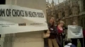 SAY NO TO THE VACCINE PROTEST IN UK - ENGLISH