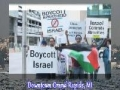 Protest in Grand Rapids US against israel after Flotilla Massacre - June 2010 - English