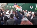 Asian Caravan Ship Departing Towards Gaza Workers Reciting Anthem - Persian