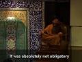 Seyyed Shams - Arbain 2008 - Night 7 - Why Imam Hossein(A) was killed  [Persian]