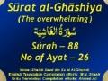 Surah Al Ghashiya - Arabic English Urdu