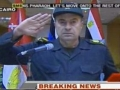 Egyptian Defense Minister Salutes Crowds near Presidential Palace - English