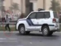 Bahrain police trying to run over protesters - All Languages