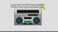 NOT AUTOPLAY MP3 Player BoomBox Free Flash Tutorial As3 File - English