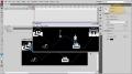 Reverse or Rewind Timeline Animations Flash Tutorial Beginning CS3 CS4 - English