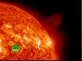 Giant comet hitting sun - May 2011 - All Languages
