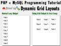 Dynamic Grid Output Programming Tutorial Using PHP MySQL Array Data - English