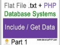 1 Flat File txt + PHP Database Systems Tutorial - Displaying text file content - English