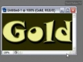 Create a Gold Text Effect in Photoshop CS3 - English