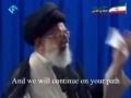 Sayyed Khameneis message to IMAM MAHDI ajtfs - Farsi sub English