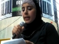 [Quds Day 2011 Times Square, New York] Tahani Salah - English