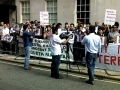 Protest outside Pakistani high commotion in London UK for Shuhdah-e-Quetta - Sep2011 - Urdu