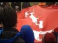 Red Flag from the Shrine of Imam Hussain (A.S.) in Julos at Toronto Canada - Urdu