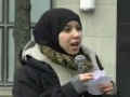 Yusur Al Bahrani on - NO WAR ON IRAN - Rally in Toronto 04 Mar 2012 - English