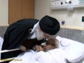 Supreme leader visits one of the most prominent Shiite cleric in Saudi Arabia in Hospital - 14APR12 - Arabic