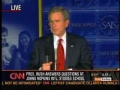 Bush Confused - Question about private military in Iraq - English
