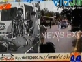 [AL-QUDS 2012] Blast At Youm-Ul-Quds Rally Bus Near Safari Park Karachi - 17 August 2012 - Urdu