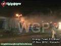 [21 November 2012] Blast near Imam Bargah at Orangi Town Number 5 Karachi - Urdu