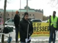Toronto Protest For Sibte Jafar- Br. Muhammad Ali Reciting Munqabat and Marcia 23Mar2013 - English