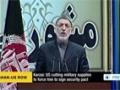 [01 Dec 2013] Karzai: US cutting military supplies to force him to sign security pact - English
