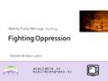 [Weekly Msg] Fighting Oppression   Sheikh Ali Nooruddin   17 January 2014   English
