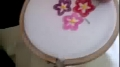 Basic Embroidery: Button Hole stitch, making flowers - Urdu