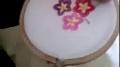 Basic Embroidery: Button Hole stitch, making flowers - Urdu