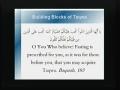 Ramadhan Lectures - Building Blocks of Taqwa 3 - English