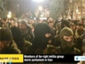 [27 Mar 2014] Members of far-right militia group storm parliament in Kiev - English