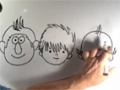 3 Faces From Circles - Cartoons Drawing For Beginners - English