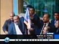 MUST WATCH - Jordanian deputies burn Israeli flag - 28Dec08 - English