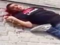 13 years old Palestinian boy dying from an Israeli pig gunshot - sub English