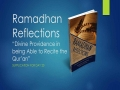 [Supplication For Day 20] Ramadhan Reflections - Divine Providence (Tawfeeq) - Sh. Saleem Bhimji - English
