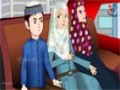 Abdul Bari Muslims Islamic Cartoon for children - Abdul Bari & family in new red car - Urdu