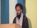 [Youm e Hussain] Speech : H.I Sadiq taqvi - 15 Nov 2015 - newport university karachi - Urdu