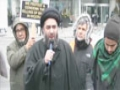 Moulana Ali Raza Rizvi at Toronto Protest Against Nigerian Killings and Sheikh ZakZaky Detention -English