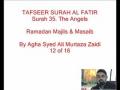 12-Sura Al-Fatir- By Agha Ali Murtaza Zaidi-Urdu