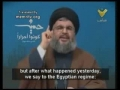 Sayyed Hasan Nasrallah - Egyptians Should Open Rafah Border Crossing - 28Dec09 - Arabic sub English